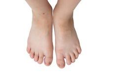 被隔绝的儿童脚 免版税库存图片