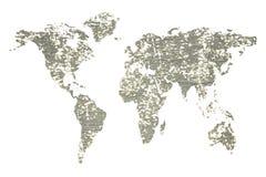 被隔绝的全球性地图 库存图片