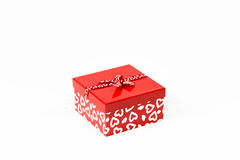 被隔绝的华伦泰方形的糖果箱子 免版税库存图片