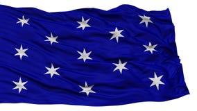 被隔绝的华盛顿市旗子,美利坚合众国 库存照片