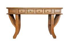 被隔绝的古色古香的木桌 库存图片