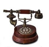 被隔绝的古色古香的电话 免版税库存图片