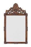 被隔绝的古色古香的镀金面镜子。 库存照片