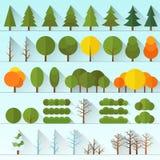 被隔绝的另外树收藏 向量例证