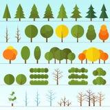 被隔绝的另外树收藏 库存例证