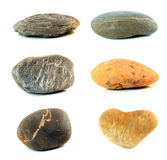 被隔绝的各种各样的颜色石头 库存照片