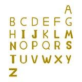 被隔绝的向日葵字母表A到Z 免版税库存照片