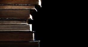 被隔绝的善本古老图书馆  免版税库存图片
