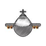 被隔绝的喷气机飞机 图库摄影