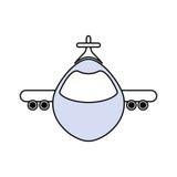 被隔绝的喷气机飞机 免版税库存照片