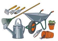 被隔绝的园艺工具 免版税库存照片
