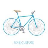 被隔绝的固定的齿轮自行车文化 免版税库存照片