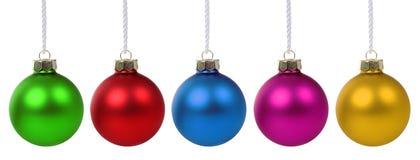 被隔绝的圣诞节球中看不中用的物品五颜六色的deco装饰 库存图片