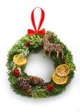 被隔绝的圣诞节花圈 库存照片