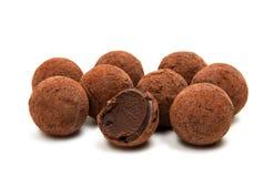 被隔绝的块菌状巧克力 免版税库存图片