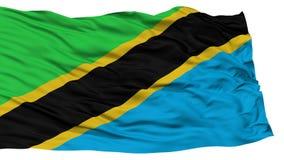 被隔绝的坦桑尼亚旗子 免版税库存照片