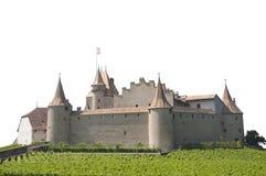 被隔绝的埃格勒城堡,瑞士 免版税库存图片