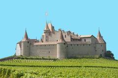 被隔绝的埃格勒城堡,瑞士 库存图片