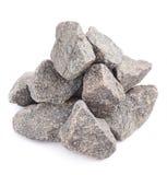 被隔绝的堆多块花岗岩石头 免版税库存图片