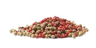 被隔绝的堆多颗胡椒种子 免版税图库摄影