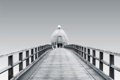 被隔绝的塞林码头 库存照片