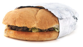 被隔绝的墨西哥三明治 免版税库存照片