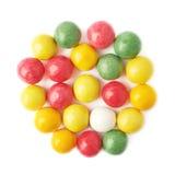 被隔绝的多个口香糖球 免版税库存图片