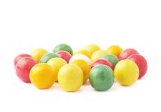 被隔绝的多个口香糖球 库存图片