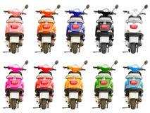 10被隔绝的多彩多姿的滑行车 免版税库存照片