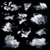 被隔绝的套多朵云彩 库存照片