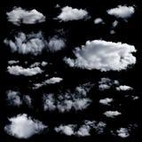 被隔绝的套多朵云彩 免版税库存照片