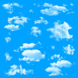 被隔绝的套多朵云彩 免版税图库摄影