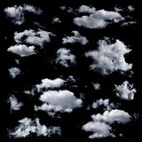 被隔绝的套多朵云彩 库存图片