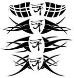 被隔绝的套Rha纹身花刺的眼睛 免版税库存图片