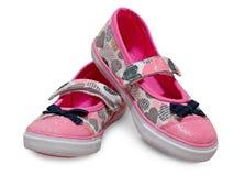 被隔绝的女性孩子鞋子 库存图片