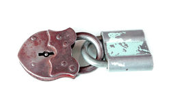 被隔绝的封锁键葡萄酒开放金属 免版税图库摄影