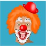 被隔绝的小丑头 库存照片