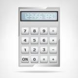 被隔绝的小方形的金属计算器对象 免版税库存照片