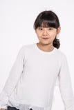 -被隔绝的少年亚洲女孩儿童演播室画象射击 图库摄影