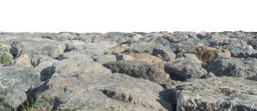 被隔绝的岩石冰砾 图库摄影