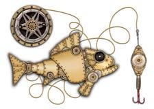 被隔绝的工业机械鱼 免版税图库摄影