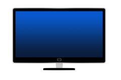 被隔绝的平面式屏幕电视机 库存图片