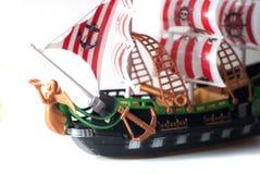被隔绝的式样海盗船塑料 免版税库存图片