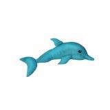 被隔绝的彩色塑泥愉快的海豚雕塑 免版税库存照片