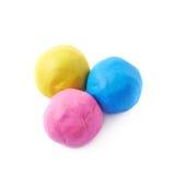 被隔绝的彩色塑泥球 免版税库存照片