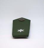 被隔绝的德国警察肩章 免版税库存照片