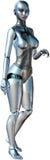 被隔绝的性感的女性机器人机器人 库存照片