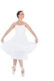 被隔绝的愉快的年轻跳芭蕾舞者 免版税库存照片