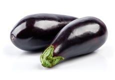 被隔绝的成熟茄子菜 图库摄影