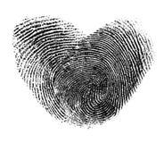 被隔绝的指纹心脏 库存照片